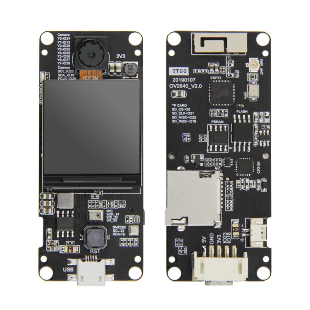 LILYGO® TTGO T-Camera Plus ESP32-DOWDQ6 8MB SPRAM OV2640 Camera Module 1.3 Inch Display With WiFi bluetooth Board
