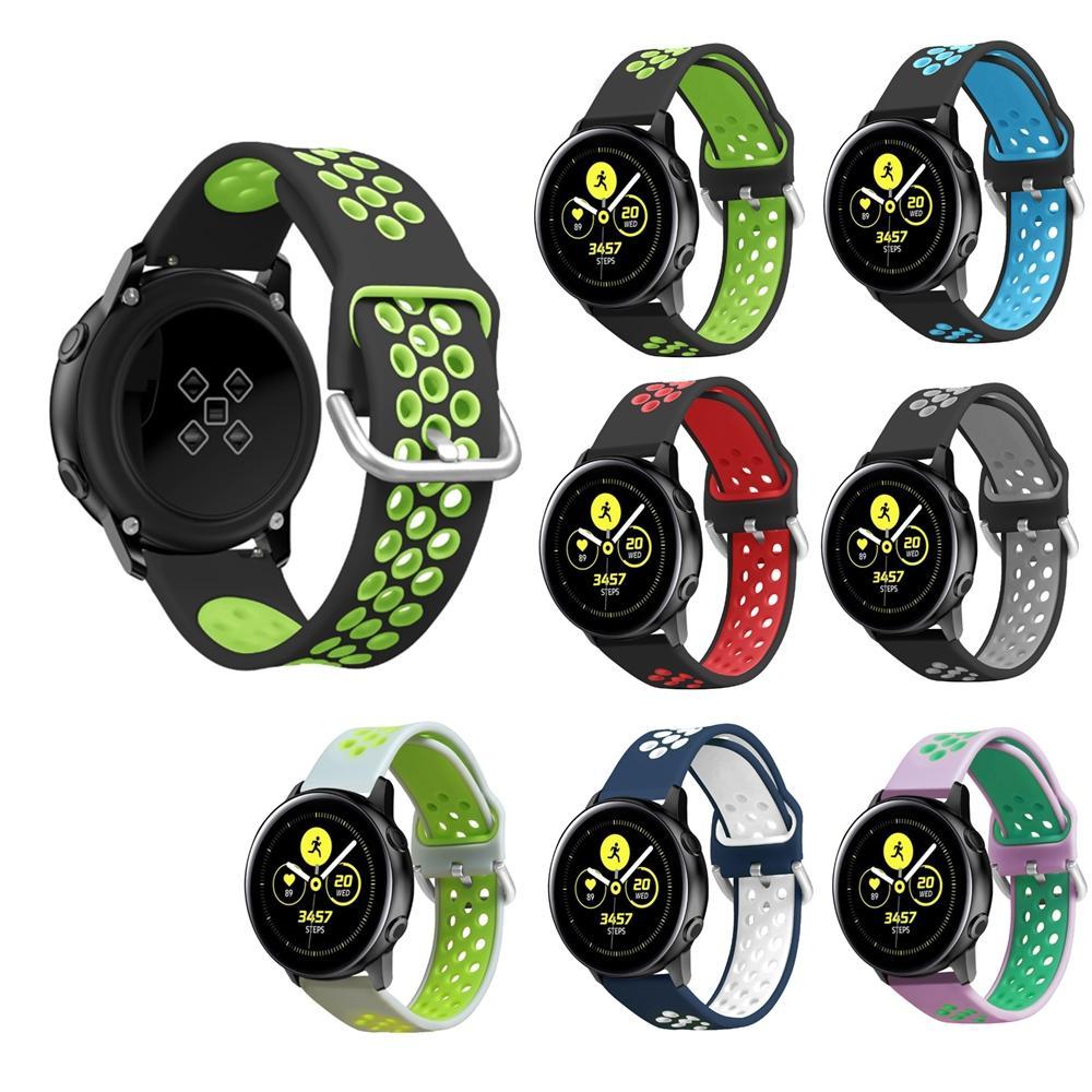 Bakeey 20mm時計バンドシリコンデュアルカラーBW-HL1 / Galaxy Active / Amazfit Bip Lite / Amazfit Pace Youth Smart Watch