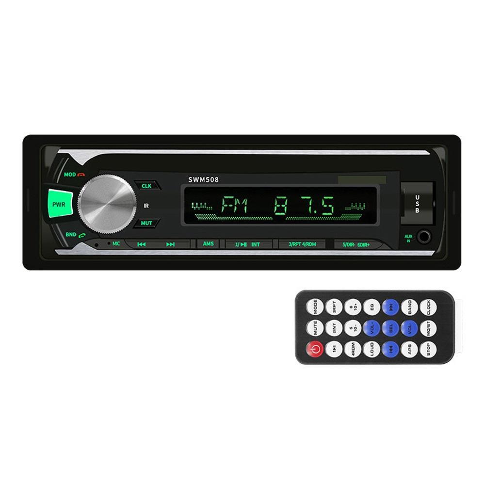 bluetooth Đài phát thanh tự động Xe hơi Đài phát thanh stereo FM Bộ thu tín hiệu đầu vào TF USB 12V In-dash 1 Din Xe MP3 Trình phát đa phương tiện Điều khiển từ xa