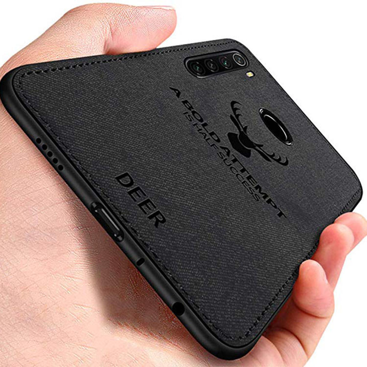 Bakeey Deer Luxury Canvas Cloth Shockproof Anti-fingerprint Protective Case for Xiaomi Redmi Note 8