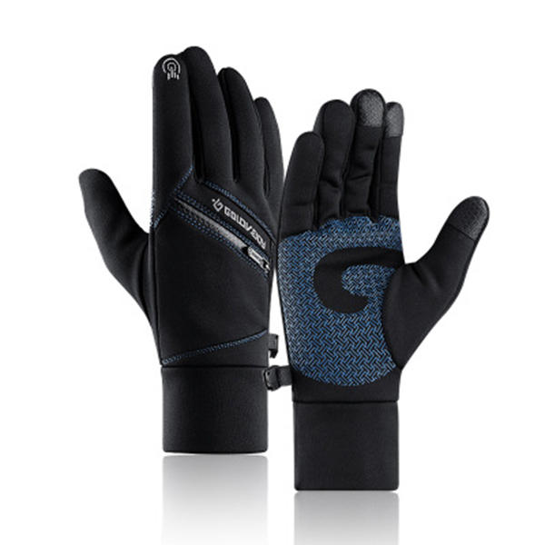 M/L/XL/2XL Winter Warm Touch Screen Gloves Multi-purpose Waterproof Windproof Non-slip Double Thermal Cycling Running Climbing Skiing Gloves with Zipper Pocket