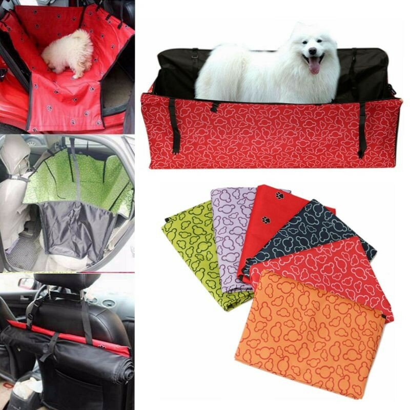 Dog Cat Seat Cover Safety Pet Waterproof Hammock Seat Cover Mat Cushion For Car