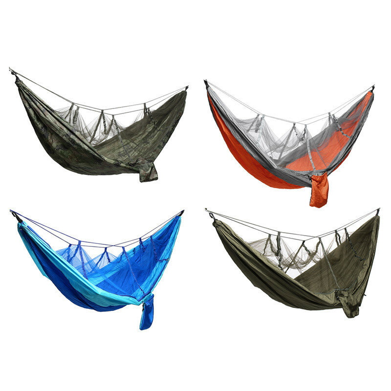 Camping Mosquito Nets Hammocks, Ultralight Camping Hammock Beach Swing Bed Hammock for the Outdoors Backpacking Survival