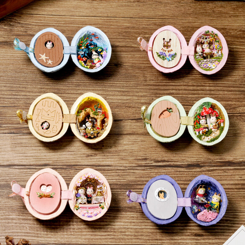 Cuteroom Seed World Series Beautiful Collection Assembled Toy DIY Doll House Gift Decoration With Color Packaging
