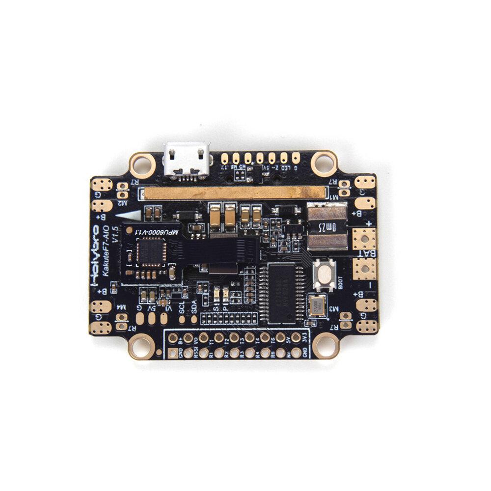 Holybro Kakute F7 AIO STM32F745 Controlador de Vuelo con OSD PDB Sensor de Corriente Barómetro para Drone RC