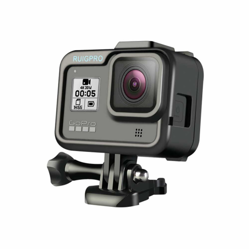 RUIGPRO Camera Heat Dissipation Plastic Frame Mount Protective Case for GoPro Hero 8 FPV Camera
