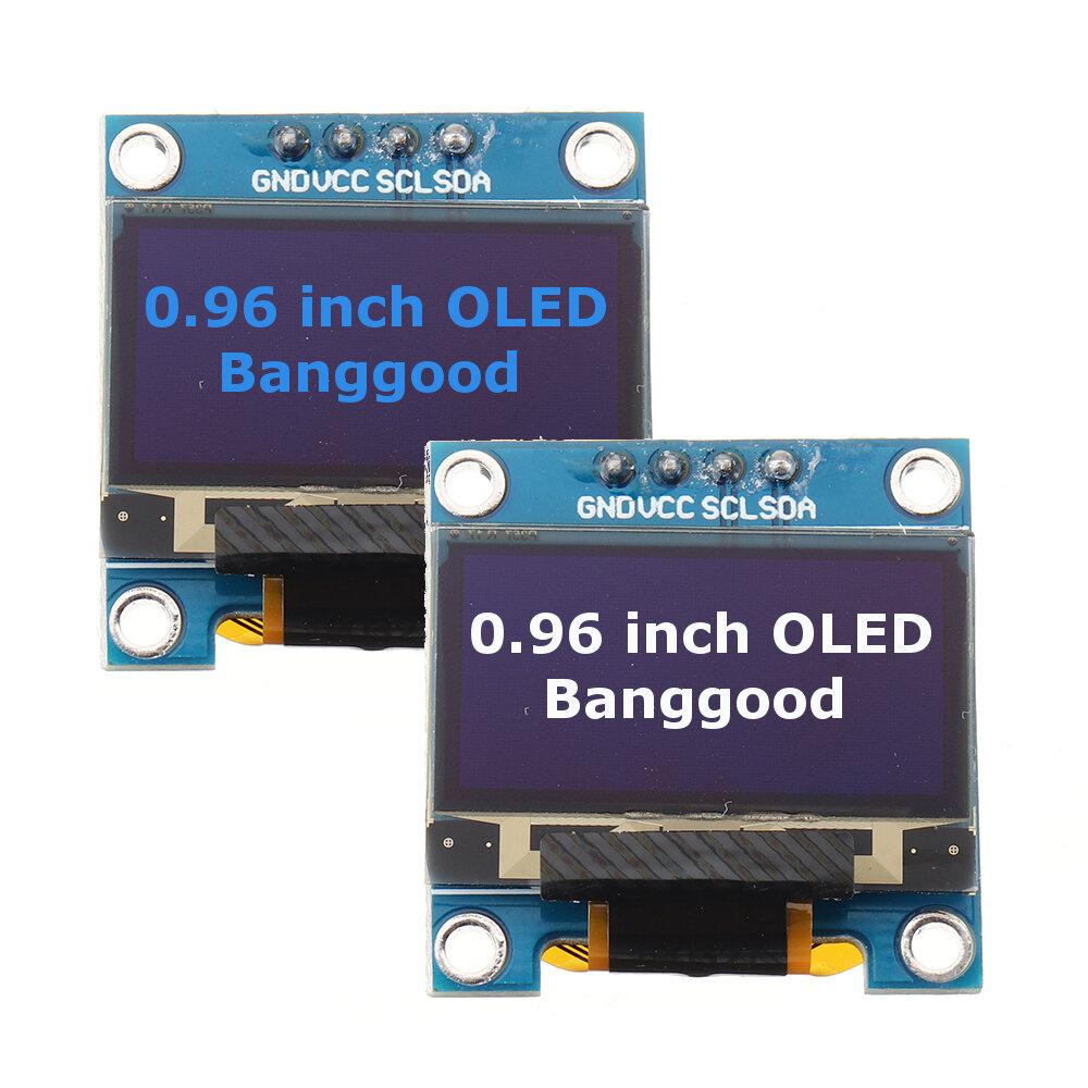0.96 Inch OLED I2C IIC Communication Display 128 * 64 LCD Module Geekcreit untuk Arduino - produk yang bekerja dengan papan Arduino resmi