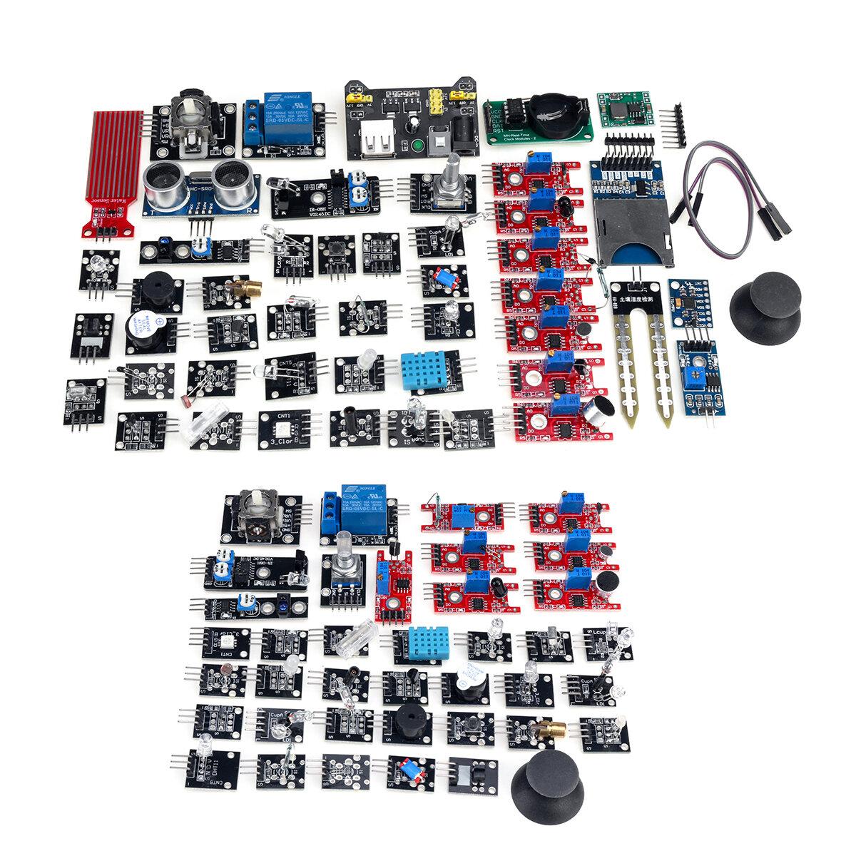 45 In 1 Updated Sensor Module Starter Kit For Arduino Raspberry Pi Education