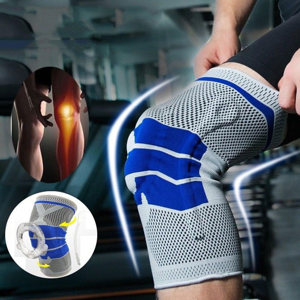 Silicone Knit Spring Knee Pad.