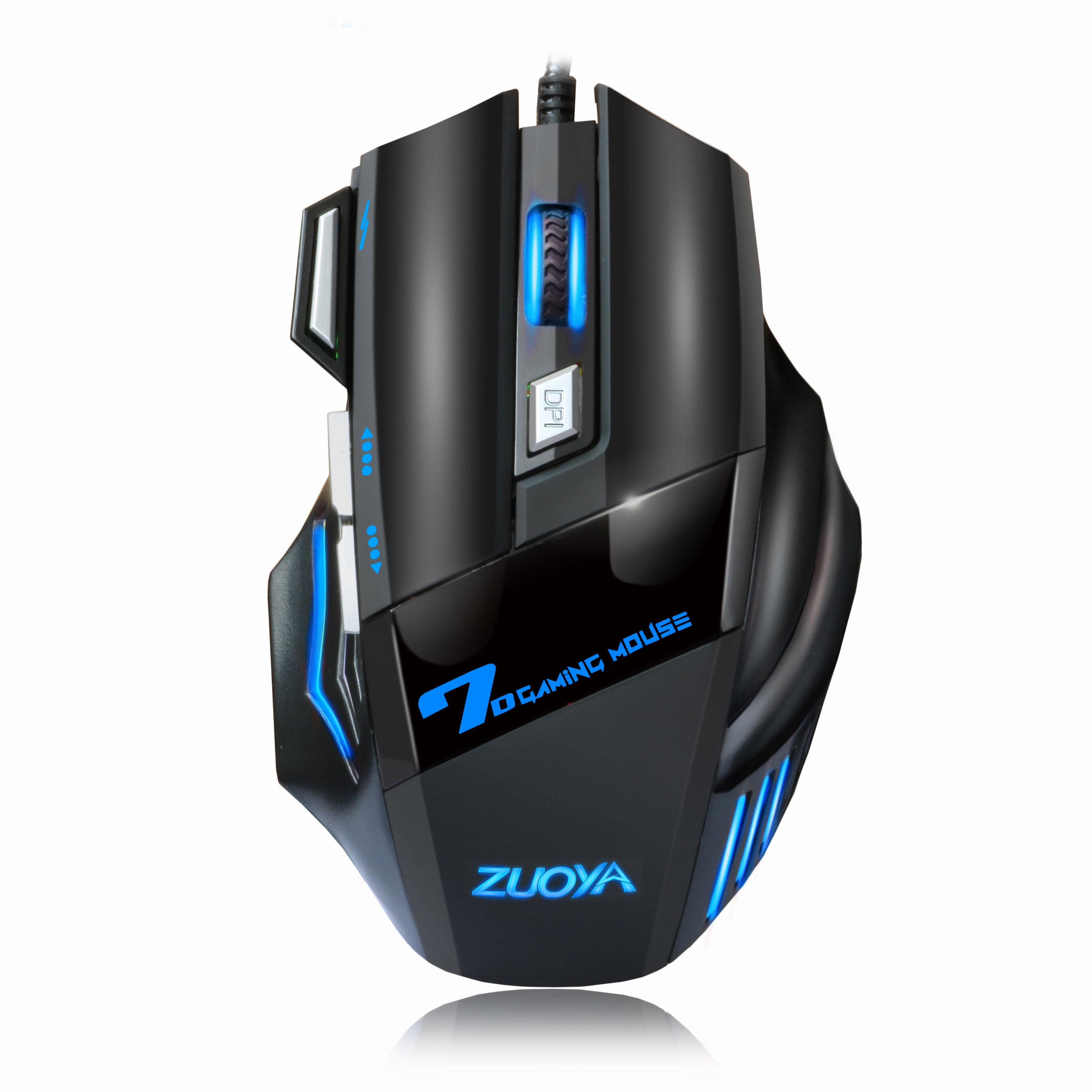ZUOYA MMR3 con cable Mecánico Gaming ratón 7 teclas 5500DPI LED USB óptico ratón Juego de ratones ratón Silencioso / Son