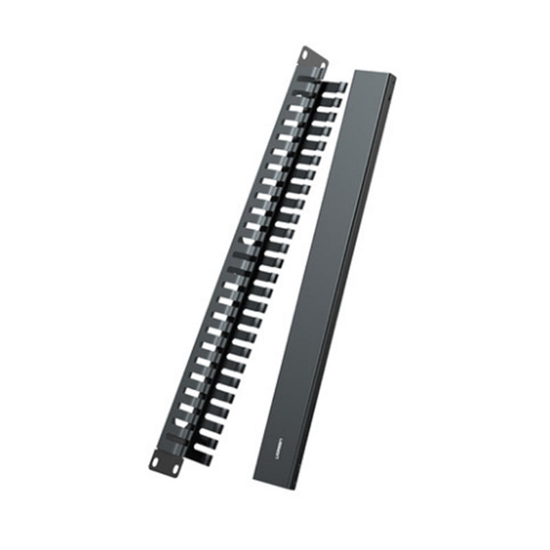 UGREEN ZJ307 24 Ports Cable Management 19U Cabinet Tidy Management Cable Organizer Winder for Engineering Network Server