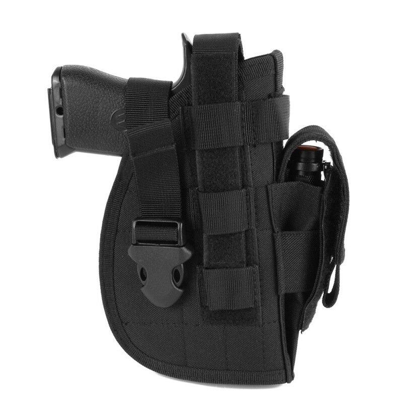 戦術的なピストルホルスターウエストバッグをすばやく引っ張って屋外狩猟収納袋