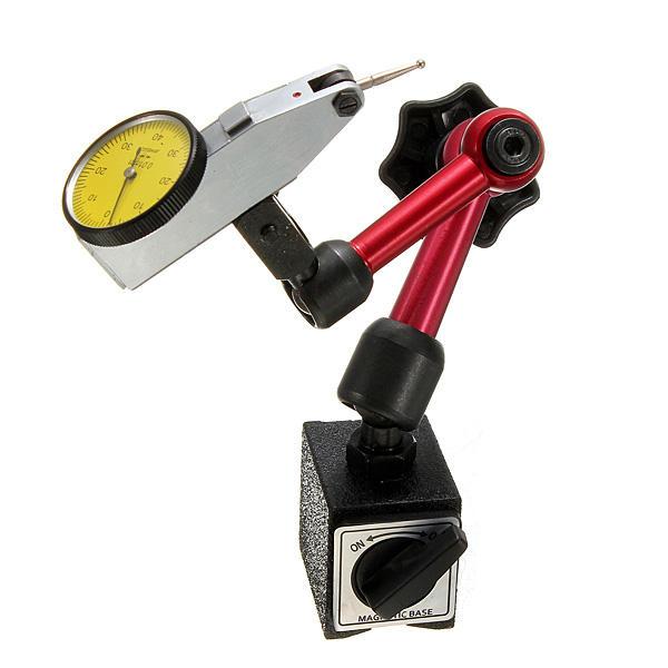 DANIU Mini Soporte Base Soporte Magnetico Flexible para Prueba Indicadora de Dial