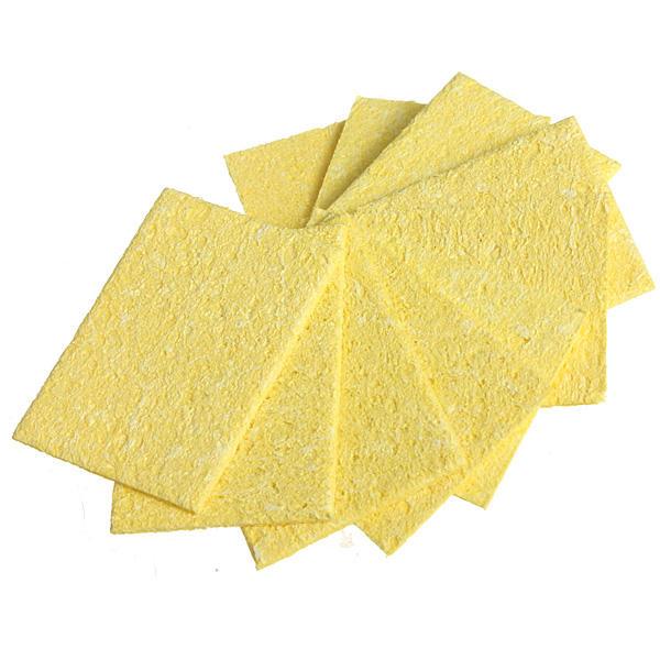 DANIU 10Pcs Welding Soldering Iron Tip Replacement Sponge Cleaning Pads