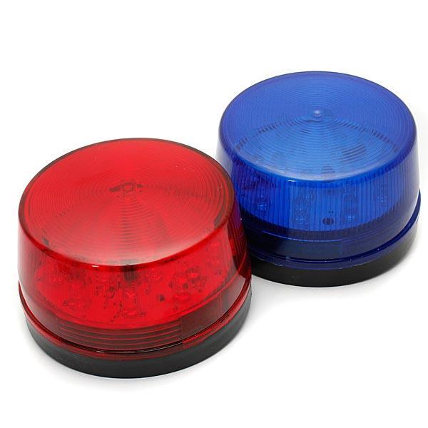 12V Security Alarm Strobe Signal Warning Lamp Blue Red Flashing Light