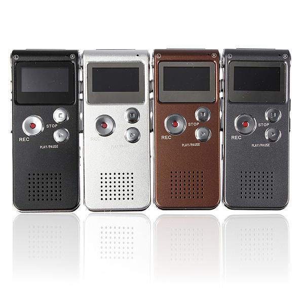Lettore MP3 registratore vocale digitale ricaricabile in acciaio 8GB 650HR
