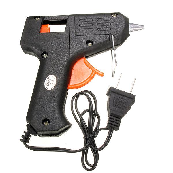 110-220V 20 Watts Electric Tool Hot Melt Glue Gun Black