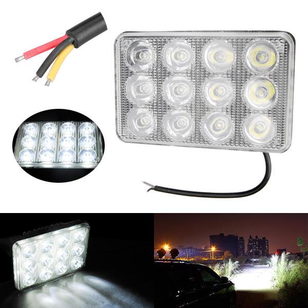 Auto 5inch 12LED 2W Rettangolo luce a led Luce della nebbia che lavora lampada Luce di inondazione Lightt