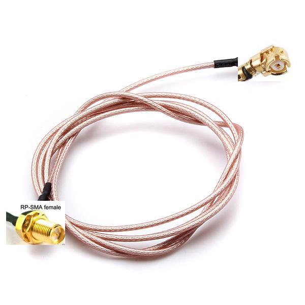 Mamparo femenina 100cm extensión rp sma a U.FL cable conector pigtail ipx