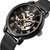 FORSING FSG-660G Mesh Steel Band Mechanical Watches Business Style Men Wrist Watch