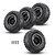 4PCS MN-90 1/12 Rc Car Spare Parts Rubber Wheel Rim & Tires