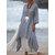 Women 3/4 Sleeve Loose O-neck High Low Hem Linen Cotton Dress