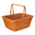 Square Woven Hand Storage Baskets Double Folding Handles Picnic Basket for Outdoor Living