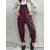 S-5XL Women Solid Color Sleeveless Side Pockets Jumpsuit