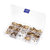 Suleve™ M3BH5 300Pcs M3 Brass Hex Column Standoff Support Spacer Pillar For PCB Board Screw Nut Assortment Set
