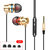 INSMA G86 Metal Bass In-ear Earphone 4D Stereo Sound Line Control Headphone With Mic for Mobile Phones