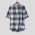 Mens Plaid Design Classic Breathable Loose Comfy Short Sleeve Casual T-Shirts