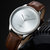 YAZOLE 503 Simple Segmentation Dial Fashion Leather Strap Waterproof Men Quartz Watch