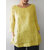 Women Cotton Pure Color O-Neck 3/4 Sleeve Pockets Shirts