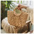 JOSEKO Straw Bag Women Summer Rattan Bag Handmade Woven Circle Bohemia Beach Handbag