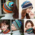 Women Cotton Colorful Multifunctional Beanie Hat Scarf Casual Windproof Double Layers Cap Collar