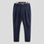 Mens Business Solid Color Buttons Design Breathable Casual Straight Pants