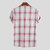 Mens Vintage 100% Cotton Plaid Stand Collar Casual Skjortor