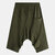 Men's Army Green Cotton Shorts Drop Crotch Pants
