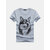 Mens Summer Funny 3D Wolf Printing O-neck Short Sleeve Casual Cotton T Shirts