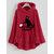 Cartoon Cat Embroidery Side Button Hooded Fleece Sweatshirt