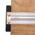 Drillpro 200/300/400mm Stainless Steel Precision Marking T Ruler Hole Positioning Measuring Ruler Woodworking Scriber Scribing Tool