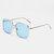 Unisex Retro Flat Mirror Square Large Frame Transparent Anti-UV Sunglasses For Woman