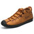 Menico Microfiber Leather Casual Hand Stitching Soft Business Ankle Boots