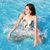 Colchones inflables de verano para natación de fila flotante Playa Natación plegable herramienta