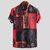 Men's Short Sleeve Blouse Hawaiian Floral Shirts Summer Beach Casual T Shirt Tops