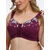 FULLGLADY Plus Size Embroidery Wireless Full Cup Front Closure Bra