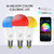 ZJ-WFBL-RGBWW AC100-240V 7W WiFi RGBCW Timer Voice Control APP Smart LED Bulb Light Work With Amazon Alexa