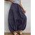 Faldas de cintura elástica de color sólido plisado casual para mujer