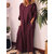 Women Long Sleeve Crew Neck Loose Casual Solid Maxi Dress