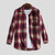 Men Mix Color Cotton Long Sleeve Checked Shirts